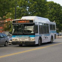 A Portland METRO bus headed for Congress Street in this 2012 file photo.