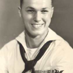 Gayland Moore Jr. served as a sailor in the U.S. Navy during World War II.