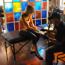 Art scholars judge work at Down East Tattoo Show
