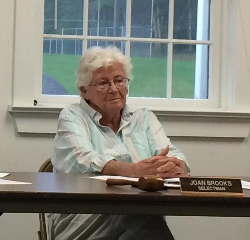Eddington Board of Selectmen Chairwoman Joan Brooks.