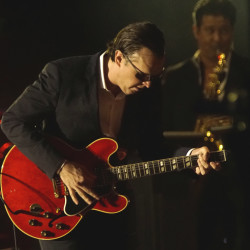 Joe Bonamassa performs at the Darling's Waterfront Pavilion in Bangor on Wednesday.