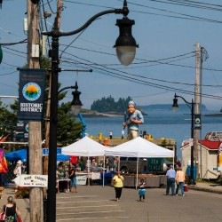 Eastport Salmon and Seafood Show looking from Bank Square