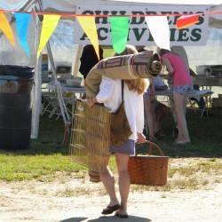 A successful shopper at last year's fair.