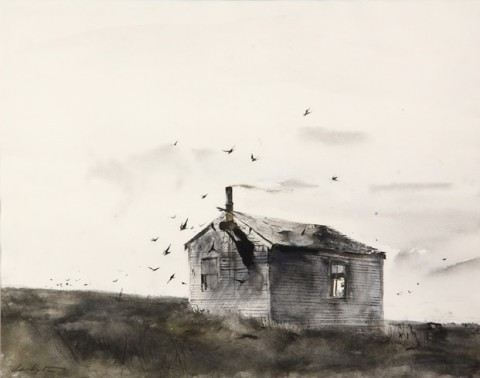 Watercolor and ink on paper painting by Andrew Wyeth (PA/ME, 1917-2009) featured at Thomaston Place Auction Galleries' Summer 2015 Fine Art & Antiques Auction on August 29 & 30