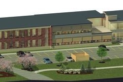 The Bath City Council on Wednesday approved an affordable housing tax increment financing district for the former Huse School. This rendition shows how the renovated building would appear with an additional wing.