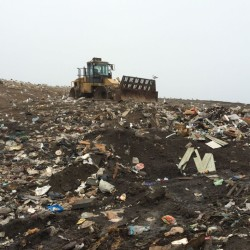Bath is expanding the gas management system at its city landfill, installing new piping for new layers of waste.