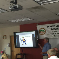 Chip Laite discusses mine safety in Augusta this week.