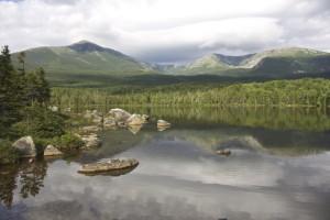A view of Katahdin from Sandy Stream Pond