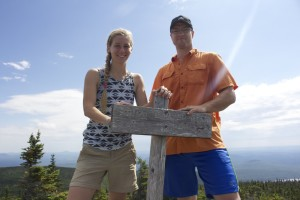 Derek and I at the summit.