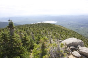 A view of Katahdin Lake from the summit.