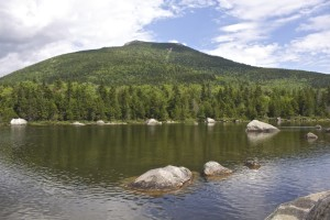 South Turner seen from Sandy Stream Pond.