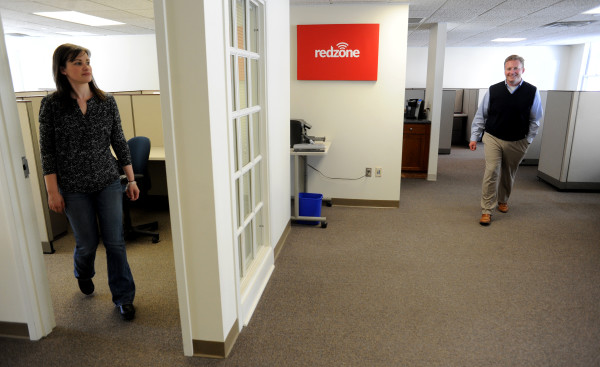 Inside the office space of Redzone in the Knox Mill Center in Camden, March 23, 2015.