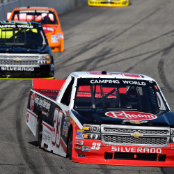 Fort Kent's Theriault finishes 21st in NASCAR Nationwide race after fuel gamble fails