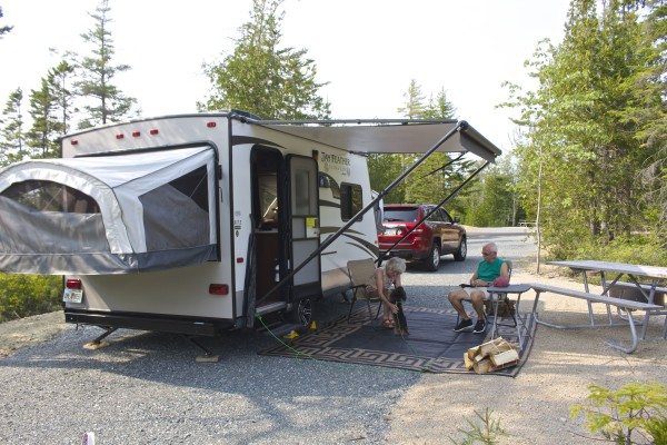Rv Camping In The Woods