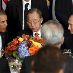 Obama stands firm on Syria air strikes at world summit