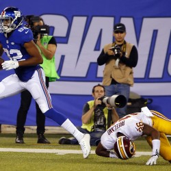 Giants' Manning showing old form, set for Redskins Monday night