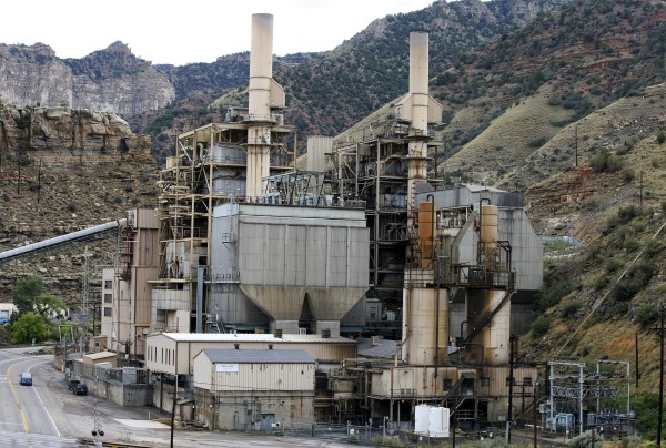 The coal-fired Castle Gate Power Plant sits idle and is no longer producing electricity outside Helper, Utah, as seen on Aug. 3.