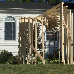 Congregation Beth El builds a Sukkah thanks to the amazing design of Mike Sealander