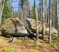 You can see Split Rock, a Volkswagen-sized glacial erratic on the 2015 Hike-a-Thon!