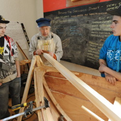 Old Hamilton Marine building finds new life hosting Searsport high school boat builders