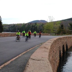 Bicyclists enjoy Acadia National Park's Loop Road.