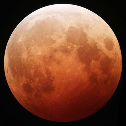 Sky-watchers see 'blood moon' in total lunar eclipse