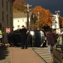 Motorist injured in Bangor rollover