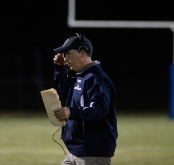 Stearns head football coach Steve Waceken looks on from the sidelines during his team's game against Medomak Valley on Sept. 11 in Millinocket.