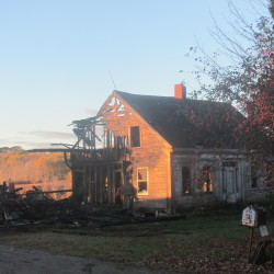 Fire destroys barn, Harley-Davidson in Waldoboro