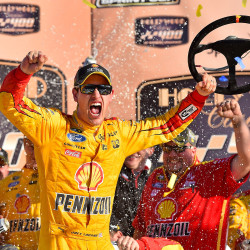 Late mad dash gives Joey Logano second win of Sprint Cup season