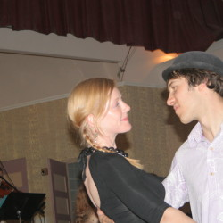 Meg and Ian Chittenden at the Belfast contradance in 2008.