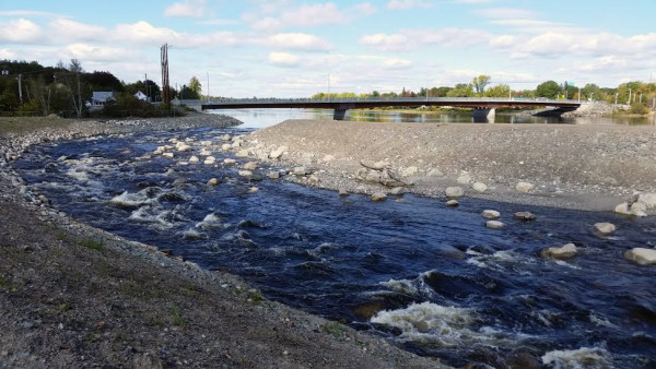The Howland fish bypass is nearly finished. It is the final leg in a $24 million restoration of the Penobscot River.