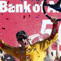 Denny Hamlin crashes during testing at Kansas Speedway