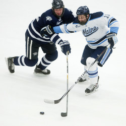 Chemistry on the ice helps Swavely brothers provide weekend boost for Maine hockey team