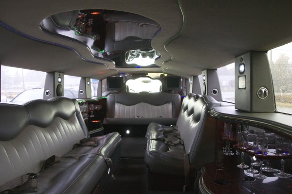 Dean McGuire's new limo, which has a spacious interior that seats up to 14 people, can be seen Oct. 13 in Machias.
