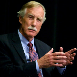 Angus King presents his position on gun control