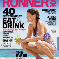 Amanda Burrill, on the cover of the Oct. 2015 issue of Runner's World