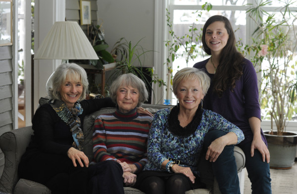 Three generations of women from one Bangor family have become active in environmental advocacy. From left are Connie Potvin, Beth Martin, Lyn Rohman and Amelia Potvin.