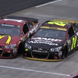 Jeff Gordon going strong on and off the track