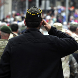 Military members, area residents take in Bangor Veterans Day parade