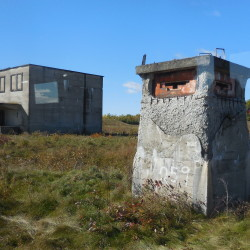 """During the Cold War, the two-story """"A Building"""" at a top-secret installation next door to Loring Air Force Base in Limestone contained vaults for storage of nuclear capsules. The """"Pill Box"""" next to it was a fortification for guards charged with defending the facility against hostile intruders."""