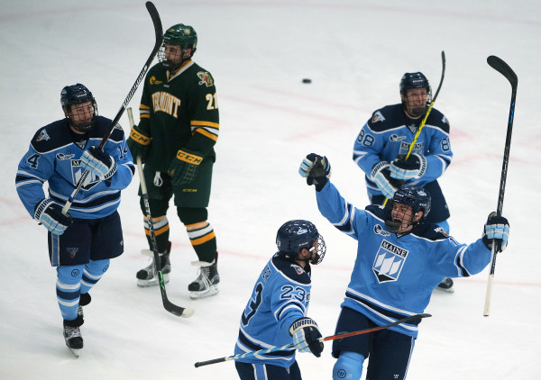 best authentic aff40 2ea20 Commemorative jerseys prove good luck for UMaine hockey ...