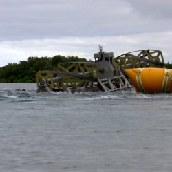 Ocean Renewable Power Co., which received a $2.25 million grant to improve its system of generating power from the movement of tides, has a similar program in effect on the Kvichak River in Igiugig, Alaska, shown in July.