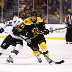 Ferriero, Thornton lead Sharks past Bruins