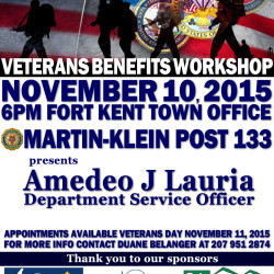 Veterans Benefits Workshop & Counseling