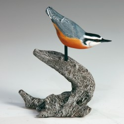 Bird carving by Erwin Flewelling, one of 50 exhibitors at the ArtFull Gifts Show at Point Lookout, Northport, Nov. 20-21