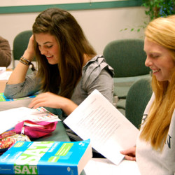 Maine Prep students prepare for the new SAT.