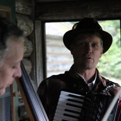 The Hay Pond Rounders leave the porch and head for the Hall! Join them December 18 at Hammond Hall.