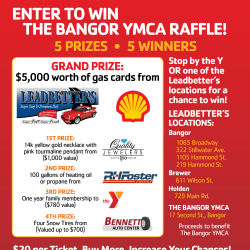Stop by the Y or Leadbetter's for raffle tickets
