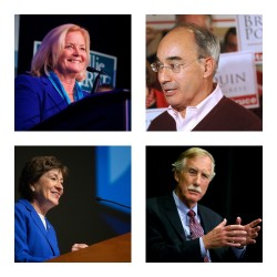 Clockwise from top left, Rep. Chellie Pingree, Rep. Bruce Poliquin, Sen. Angus King and Sen. Susan Collins.